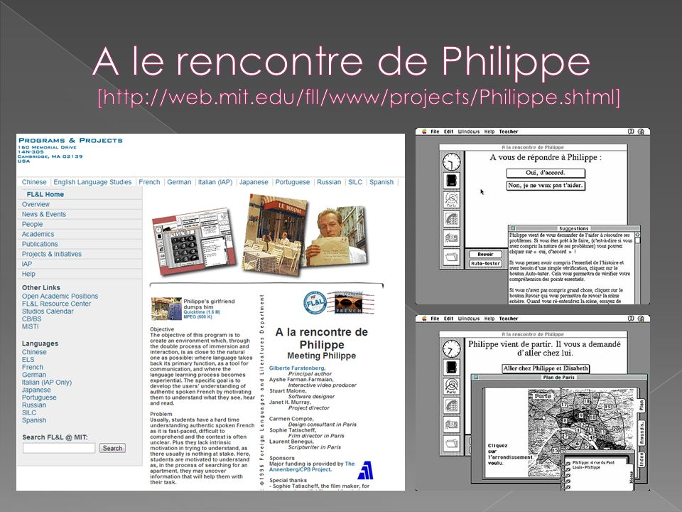 A le rencontre de Philippe [http://web. mit